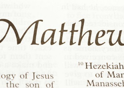 A Study in Matthew